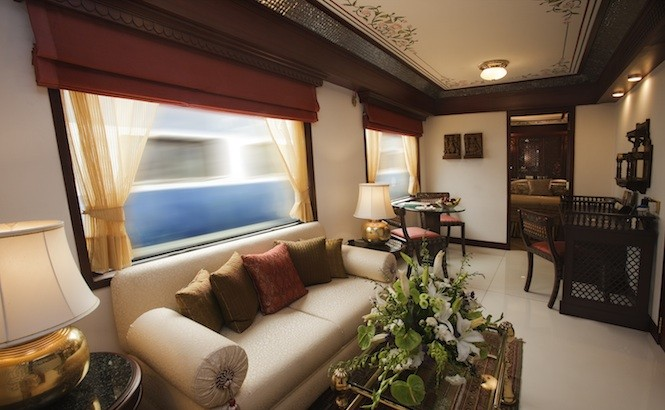 Living room in the Maharajas' Express