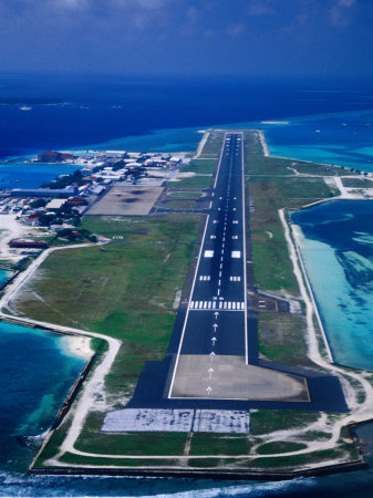 Male International Airport's island runway.