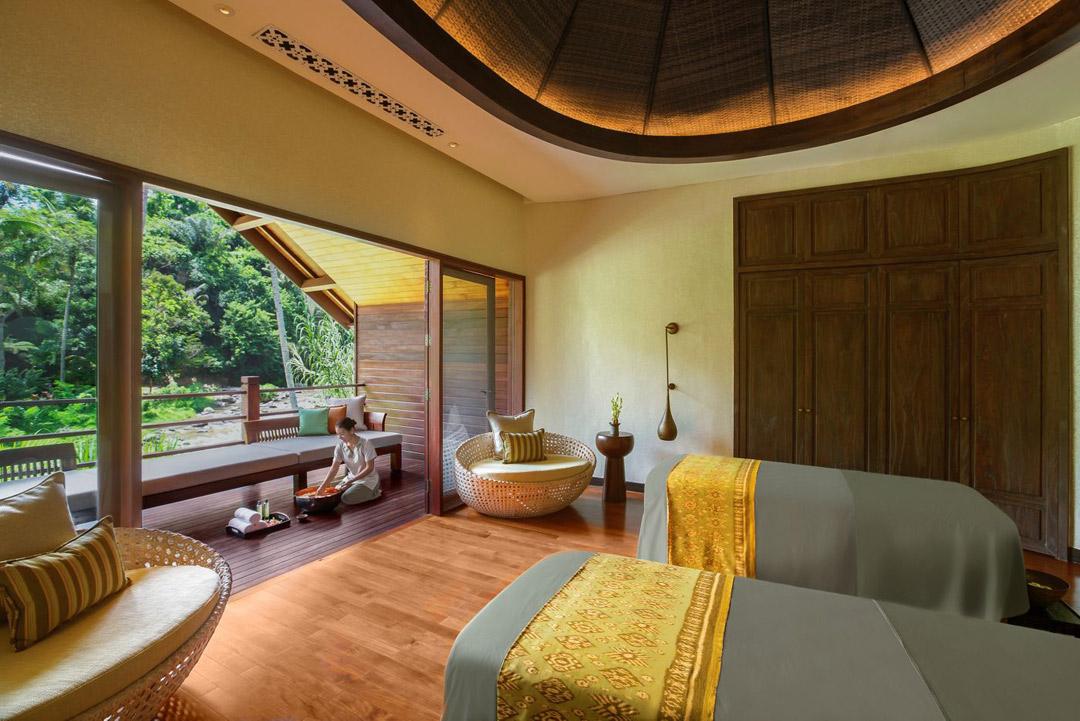 A treatment room at Mandapa, a Ritz-Carlton Reserve.