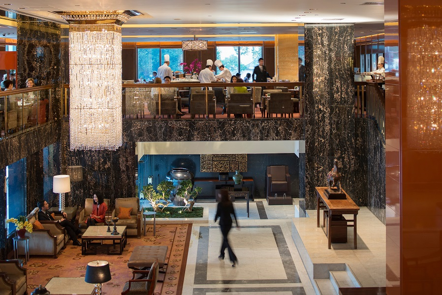 The Oriental-accented Clipper Lounge offers three meals buffet-style but is most beloved for its afternoon tea.