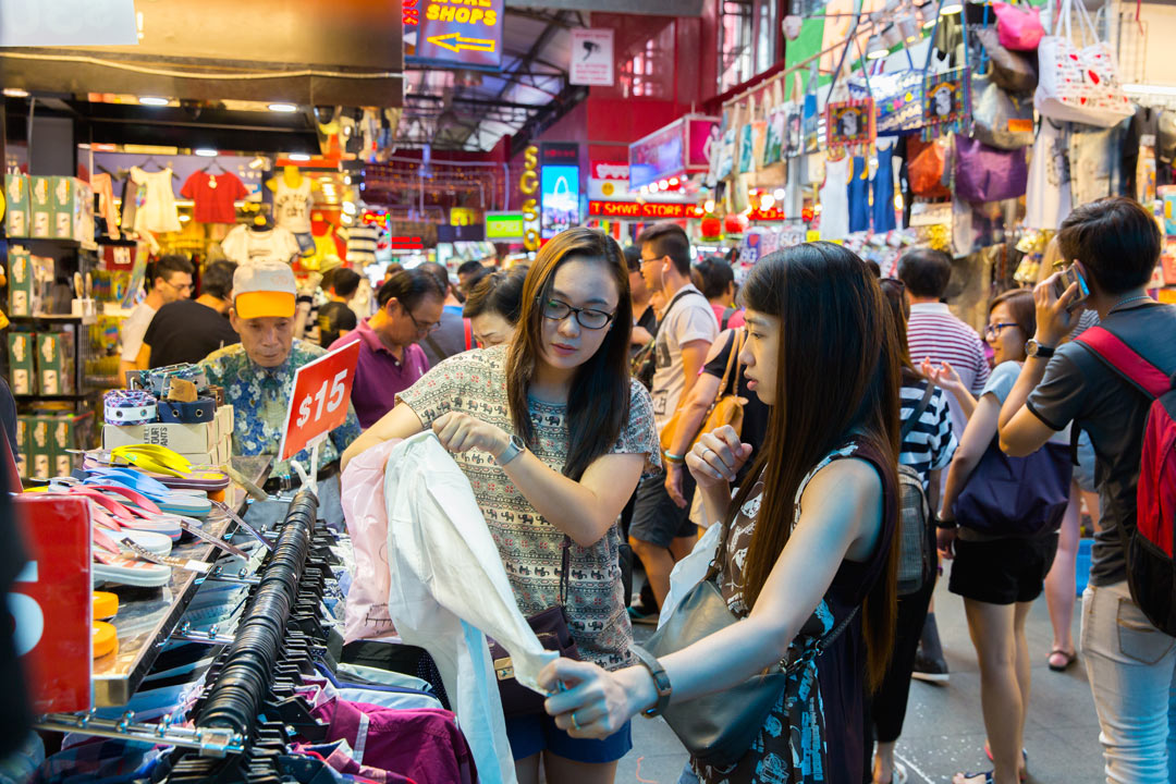 Shopping haven at Bugis Street Market.