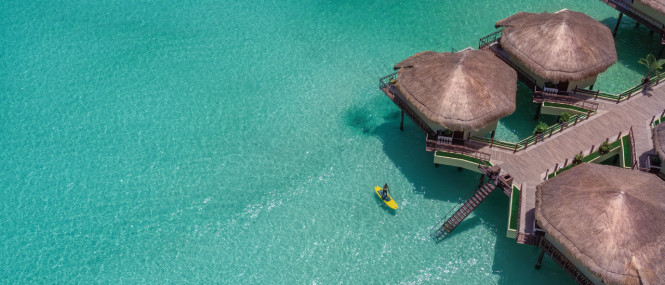 Aerial shot of the Maroma.