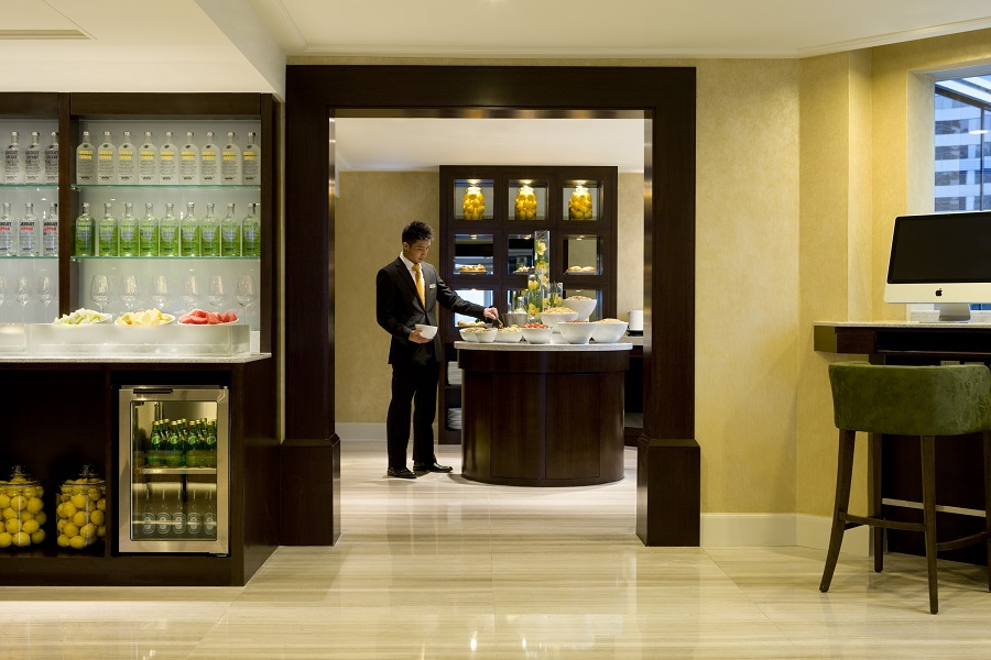 The hotel's Executive Lounge spans two floors.