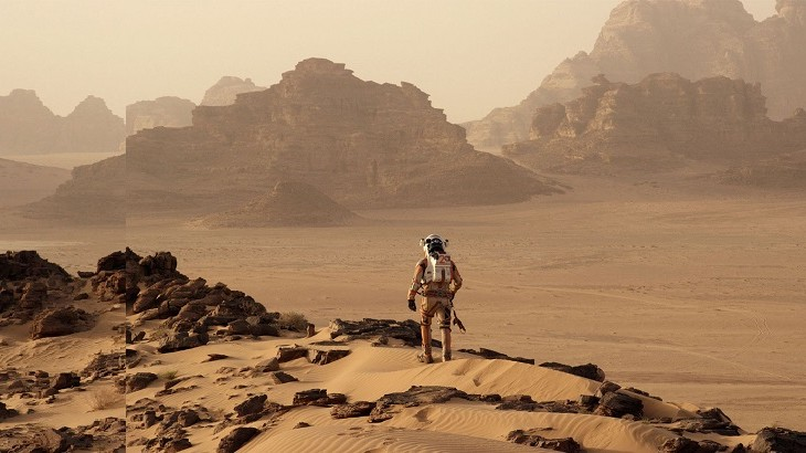 "In ""The Martian"", Wadi Rum represented the landscape of Mars. The red desert has become popular in the movies as a lunar-like setting hard to find on Earth."