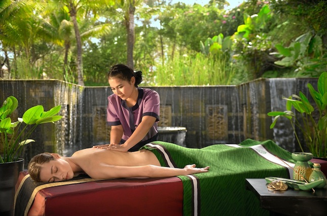 An in-villa massage treatment at Banyan Tree Spa Sanctuary.