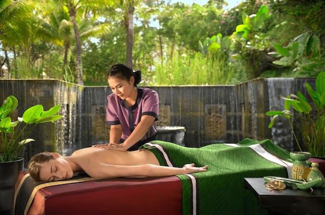 An in-villa massage treatment at Banyan Tree Spa Sanctuary.