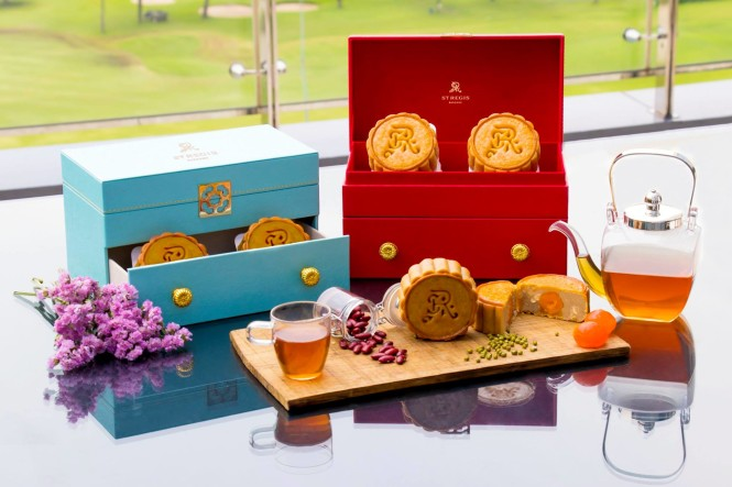 The St. Regis' elegant mooncake gift boxes