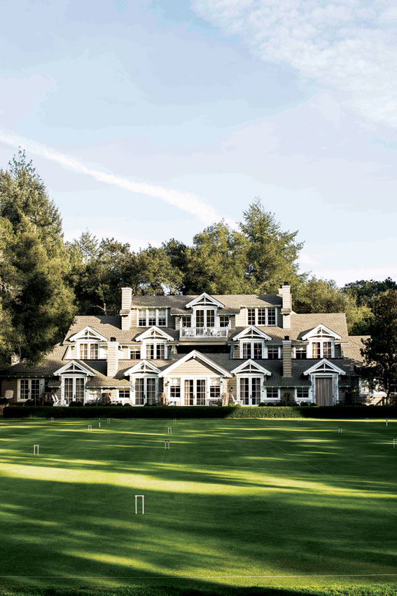The main lodge at the Meadowood Resort.