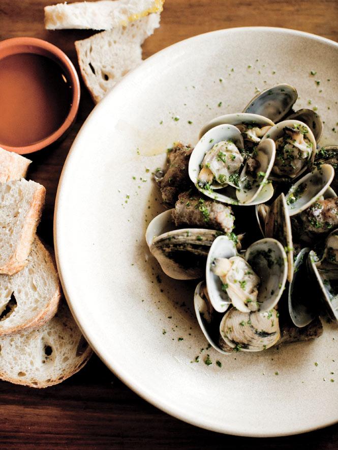 Steamed cherrystone clams, on the seasonal tapas menu at Movida Next Door.