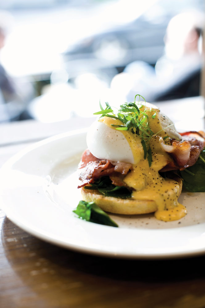 A perfect start to the morning—eggs Benedict at Dukes.