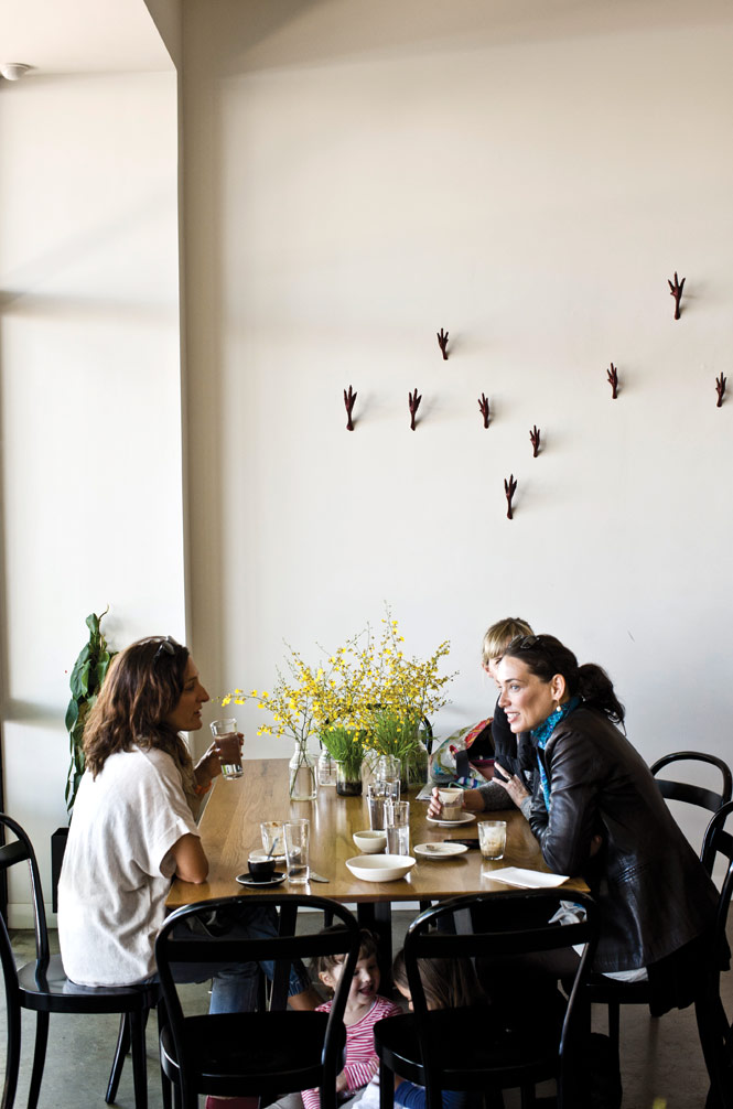 Chicken's-feet coat hooks are among the quirky design elements at Golden Fields, chef Andrew McConnell's new Asian-focused venture in the seaside suburb of St. Kilda.