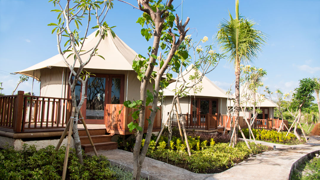 The resort boasts 24 Beach Camp Tents and four Cliff Tent Villas.