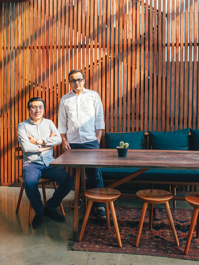 Arief Said and Andrew Tang, co-founders of Morph Coffee, at one Fifteenth.