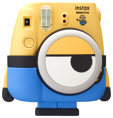 The pants serve as a detachable stand. Meanwhile, the lens are the Minion's eye.