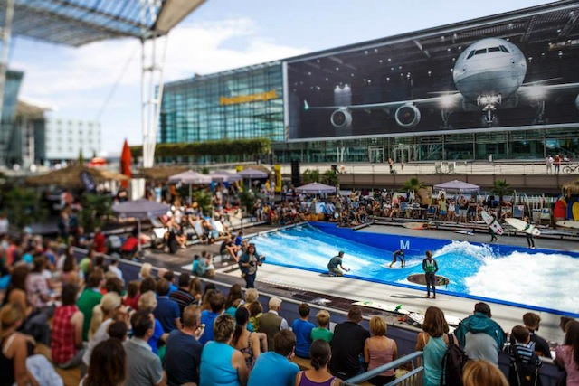 A surf competition held at Munich Airport.