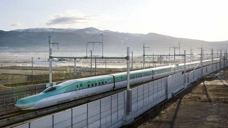 Travel time between Tokyo and Hokkaido is now shorter by 53 minutes with the new service.