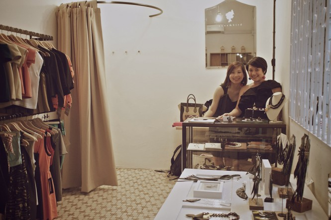 Georgina and Chiewling, owners of Nana & Bird boutique.