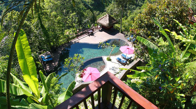 The pool at the Nandini Bali Resort in Ubud.