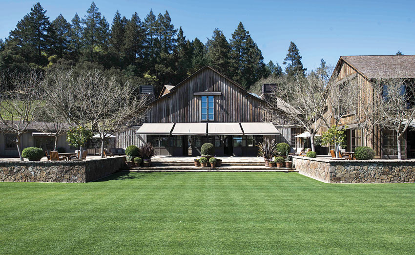 The grounds of the Napa Valley Reserve.