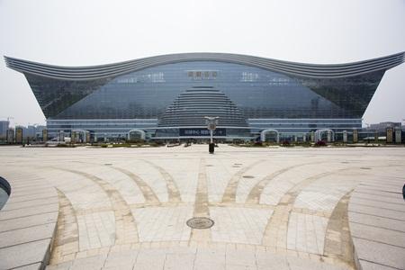 The exterior of the gargantuan New Century Global Center.