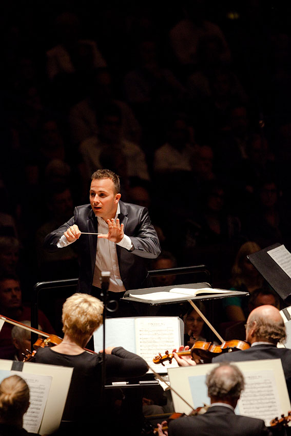 Conductor Yannick Nézet-Séguin at the Edinburgh International Festival.