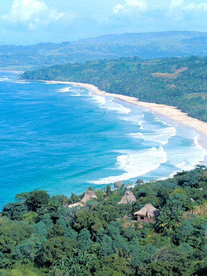 Overlooking Nihiwatu Beach and its eponymous resort on Sumba.