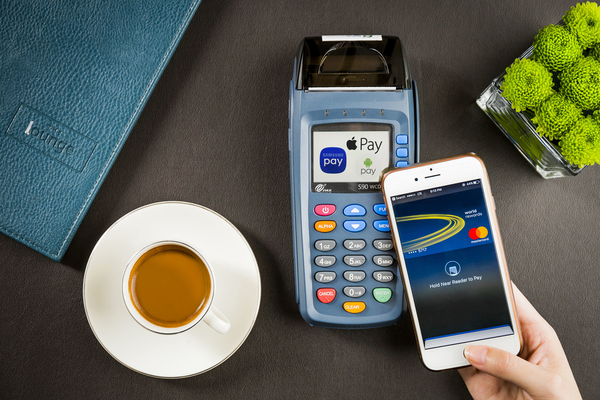 The hotel accepts contactless mobile payment options