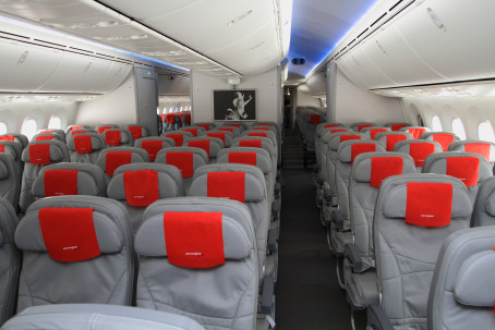 The interior of the Dreamliner.