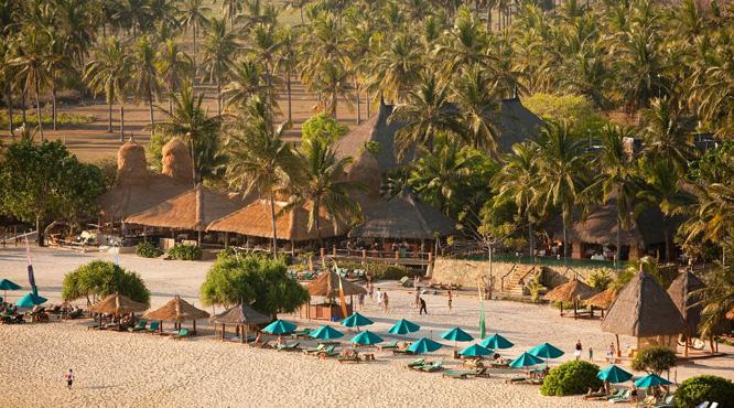 The beach at the Novotel Lombok resort.