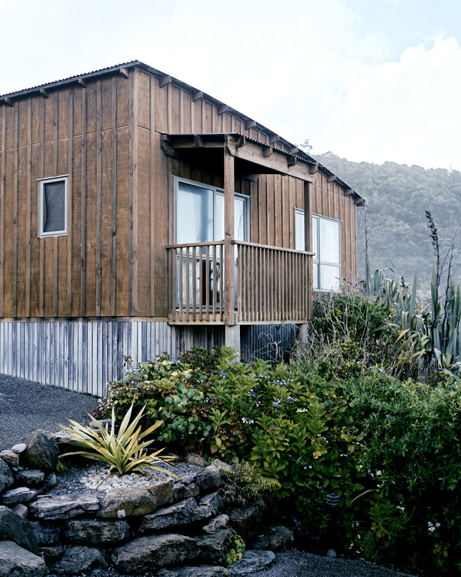 An Eco-Friendly Bungalow at Punakaiki Resort.