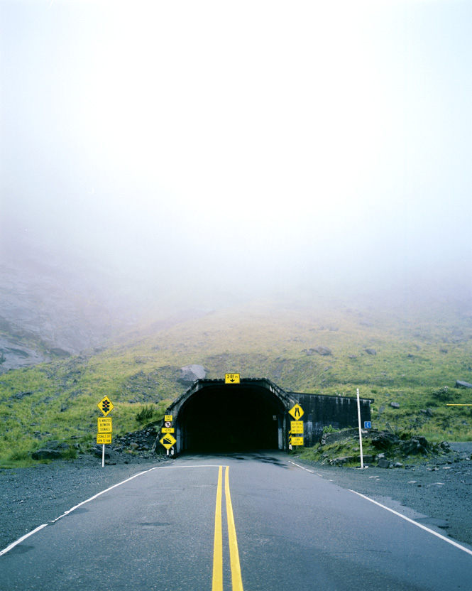 The eastern entrance to Fiordland's Homer Tunnel.