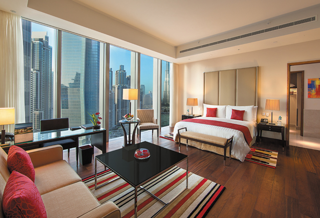 A suite at the new Oberoi.