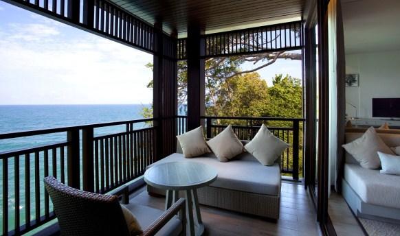 An ocean-front view at the Pullman Phuket Arcadia, Naithon Beach.