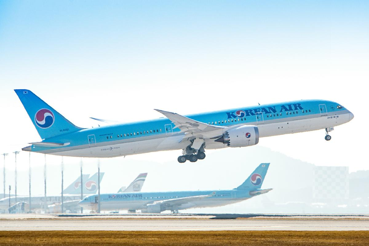 Korean Air Boeing 787-9 Dreamliner to start international routes.