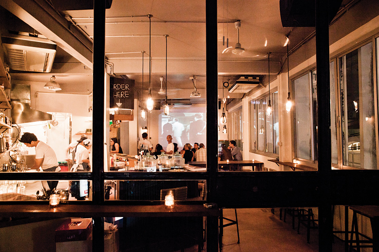 Opposite Mess Hall is sold as more of a bar that serves food, than the other way around.