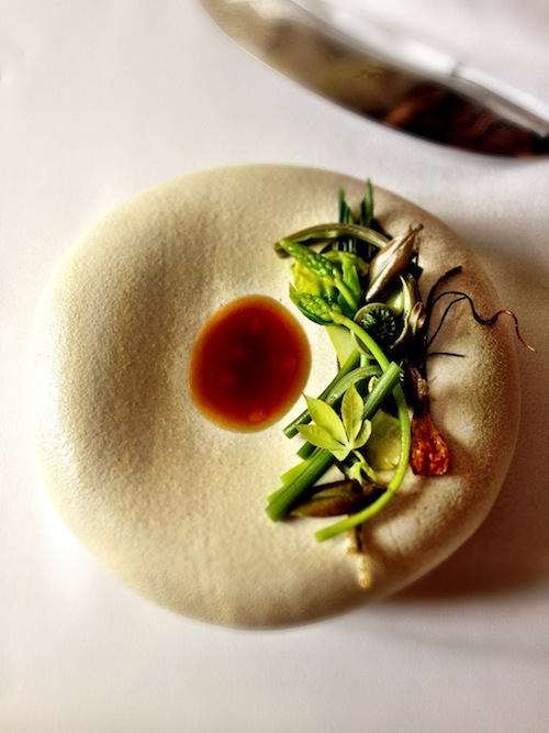 André Chiang's infamous orangutan salad.