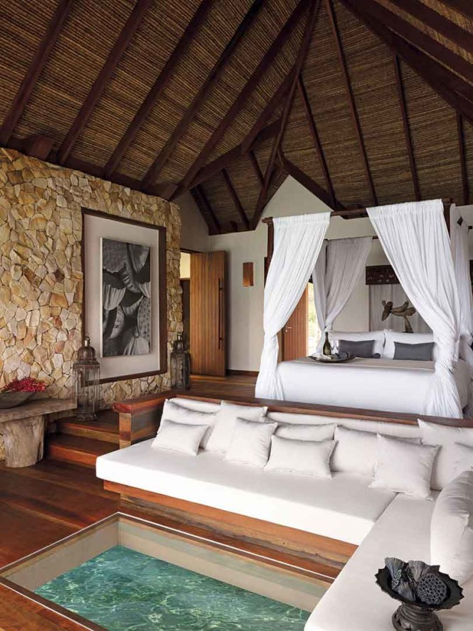 Inside an overwater villa at Song Saa Private Island, Cambodia. Photo courtesy of the property.