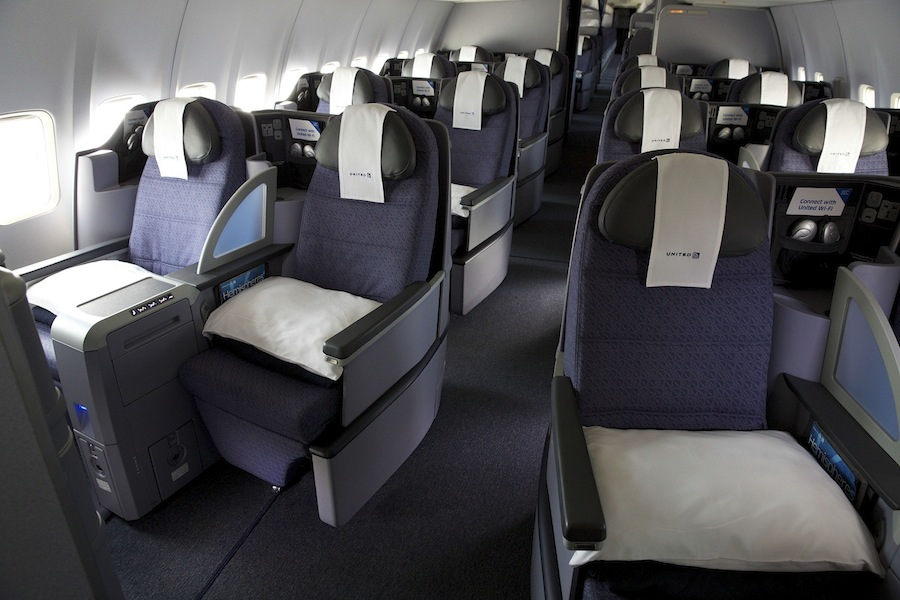 Because of the swap, United BusinessFirst class will be offered on domestic flights between Newark and California.