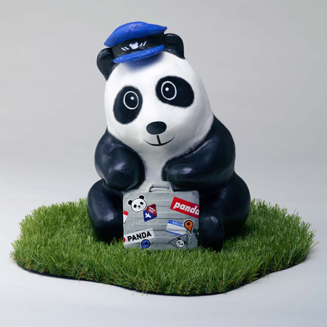 A Hong Kong-themed panda.