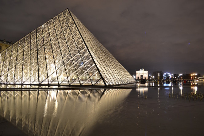 I.M. Pei designed the Louvre's steel-and-glass pyramid.