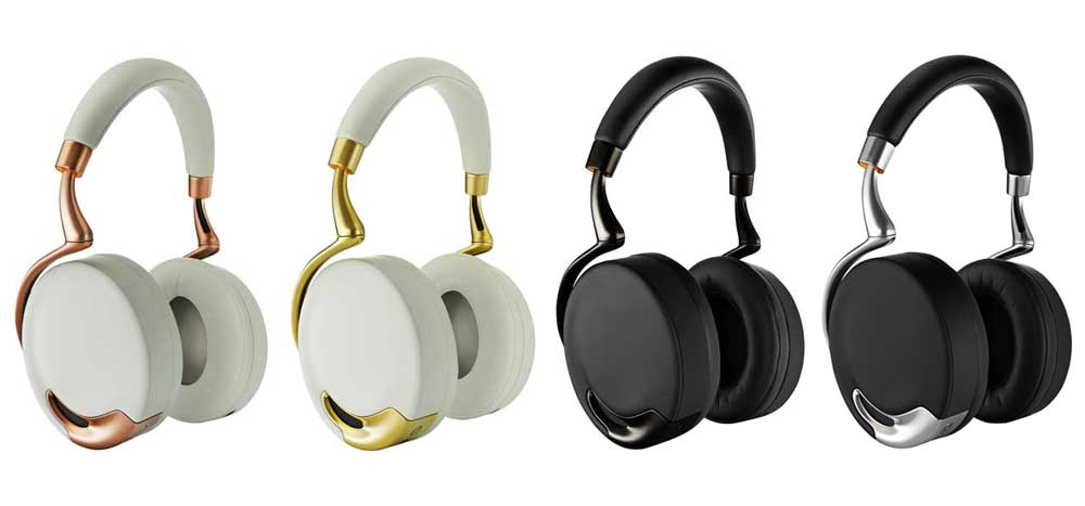 Parrot Zik comes in two colors, each with their own accent colors.