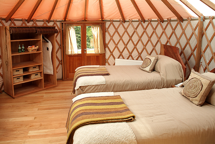 Patagonia Camp has 18 yurts nestled in a forest of beech trees.