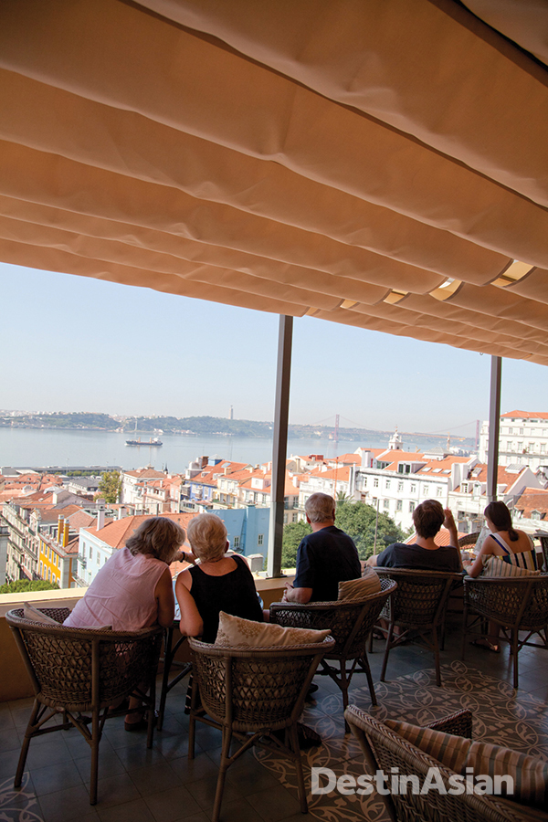 The terrace at Bairro Alto Hotel.