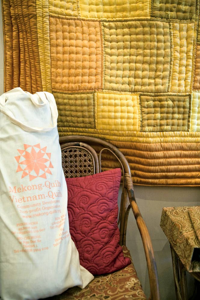 In Stitches Purchases at Mekong-Quilts help to support craftspeople in Svay Rieng.