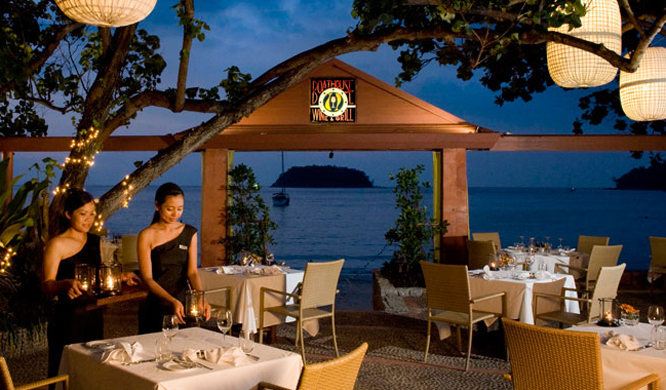 Wine & Grill restaurant at the Phuket resort Boathouse.