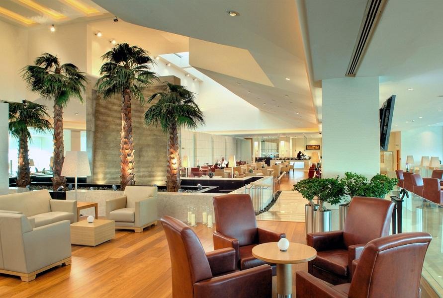 Qatar Airways' Premium Terminal in Doha International Airport.