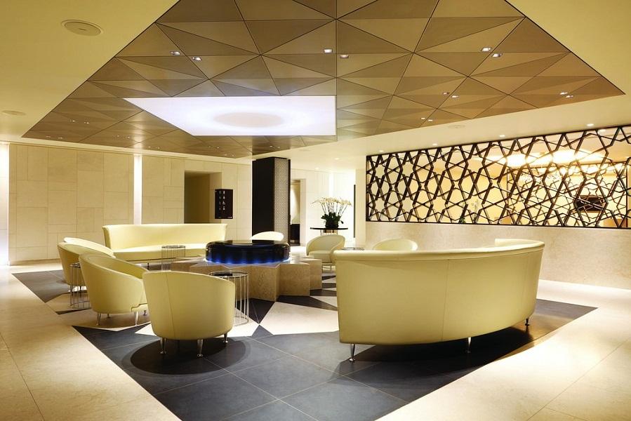 Qatar Airways' Premium Lounge in London Heathrow.