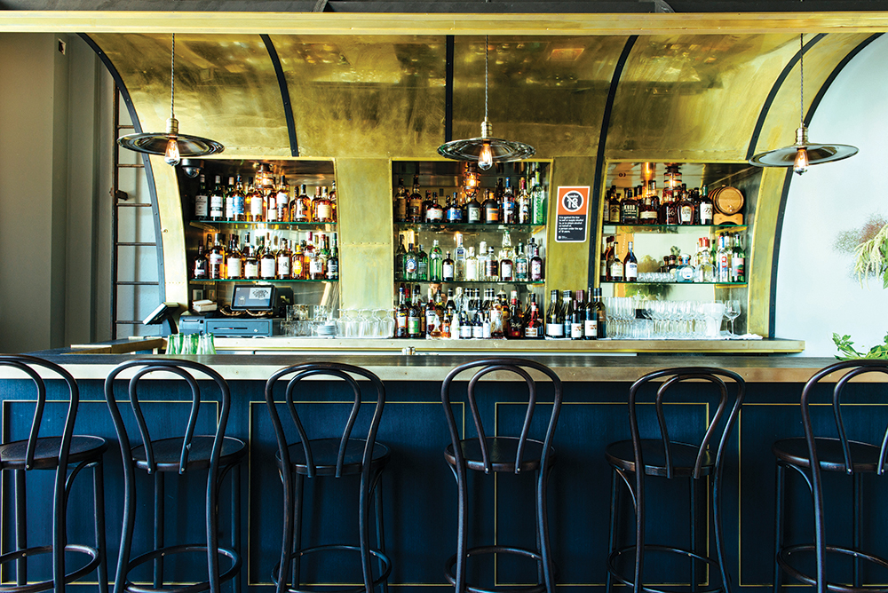The bar at Henry Deane.