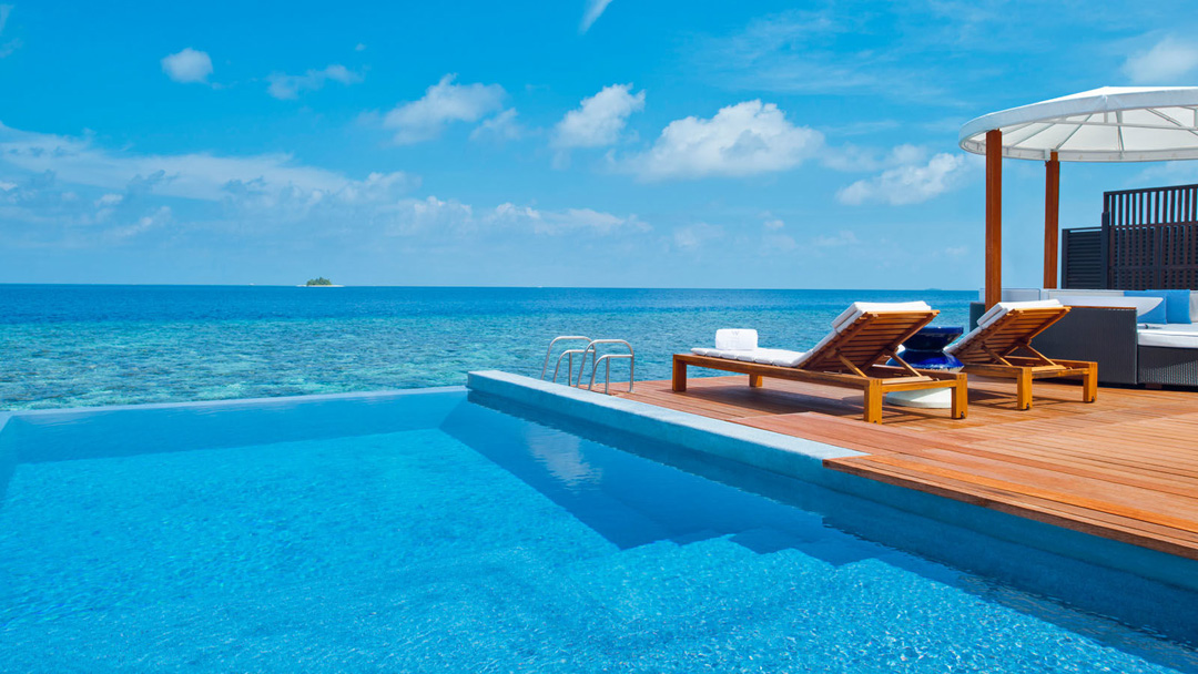 W Maldives' Fabulous Lagoon Oasis comes with a private plunge pool.
