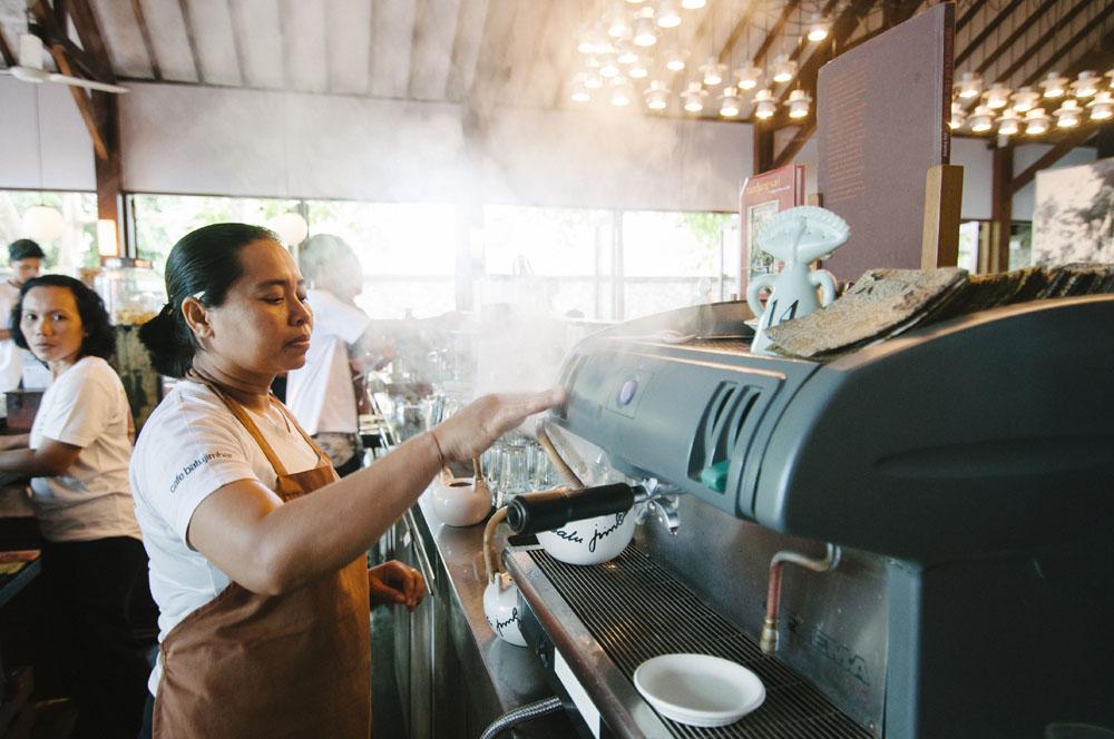 Chris Salans says breakfast is best at Café Batujimbar.